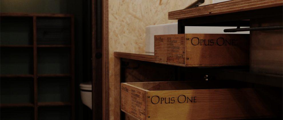 ワイン木箱で引出し-オリジナルフレームキッチン_[Chuo-M37]