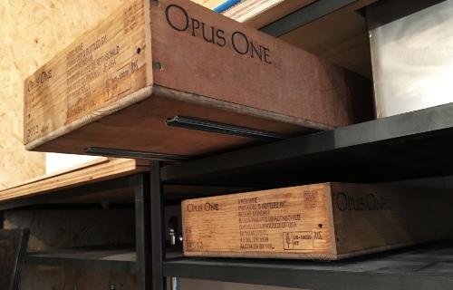 ワイン木箱引き出しスライドレール