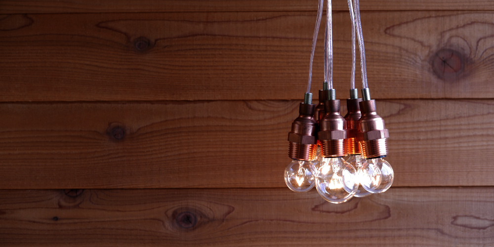 Light bulb pendant lamp copper field labo mozeypictures Image collections