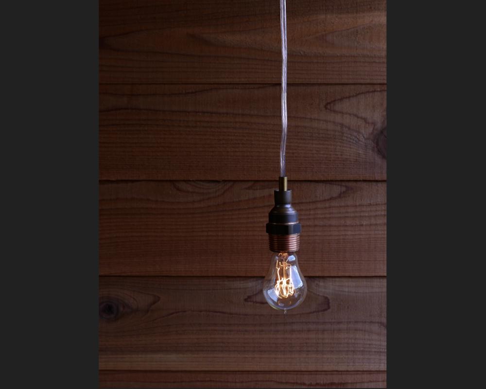 銅配管パーツ電球照明1